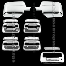 For 2004-2008 Ford F-150 F150 Chrome Covers Set Mirrors+4 Door Handles+Tailgate