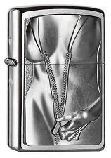 ZIPPO Feuerzeug ZIPPER GIRL m. Emblem Sexy Körper Reißverschluß Erotik NEU OVP
