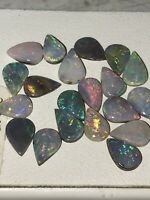 AUSTRALIAN BOULDER OPAL LOT CLEAN CABS 5.8 CTS MANY MATCHES