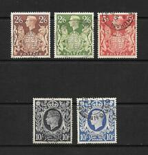 1939 King George VI SG476 to SG478a set of 5 stamps Fine Used GREAT BRITAIN