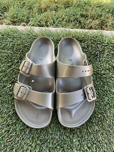 Men's Birkenstock Arizona EVA Essential Olive Green Rubber Sandals Sz 11