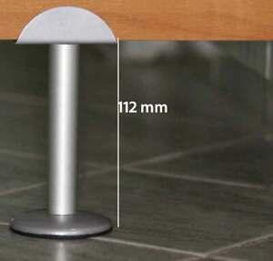 Section Partition Leg. Feet Support Wall Bracket Toilet Steel Matt Chrome