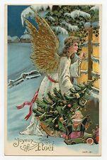 L'Ange de NOËL . Sapin et jouets anciens. CHRISTMAS Angel . Old toys.
