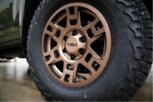 "Genuine Toyota 17"" Bronze TRD PRO Wheel Set w/ Black Lug Nuts Set PTR20-35110-F5"