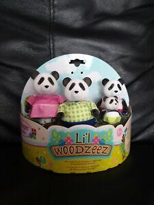 Li'l Woodzeez Skyhoppers Panda Family Set. Free Delivery