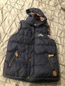 Tokyo Laundry Boys Gillet Age 9-10 Years Navy Blue Puffa Bubble Style Hoody