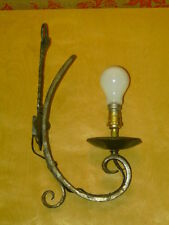 LAMPE APPLIQUE FER FORGE