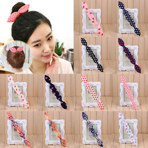 Simple Hair Device Disk Lady Floral Ponytail Holder Bun Maker Twist Styling Clip
