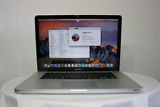 "Fast Apple Macbook Pro 15.4"" A1286 Core i7-2720QM 2.2GHZ 4GB 500GB os Sierra"