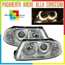 Fari Anteriori per VW PASSAT 3BG 2000-2005 Fanali Angel Eyes DEPO Cromato