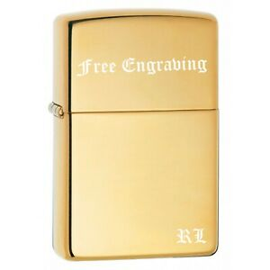 Zippo Pipe Lighter: Armor - High Polish Brass 169PL Free Engraving Included