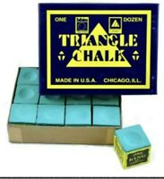 4 x Green Tweetens King Triangle Pool / Snooker Cue Tip Chalk. FREE DELIVERY