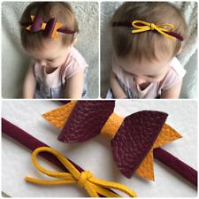 Set of 2 Harry Potter Gryffindor Inspired baby girl toddler headband hair bow