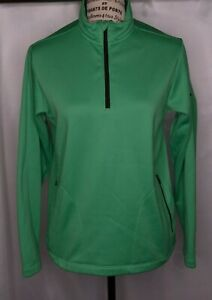 Nike Golf Therma-Fit Woman's Large Pullover 1/4 Zip Green