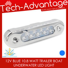 12V 10W STAINLESS SUBMERSIBLE BAIT BLUE UNDERWATER WAKE LED TRANSOM BOAT LIGHT