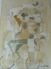 Hakan Engström 1908-1987, Komposition mit Radfahrer, Aquarell, um 1960