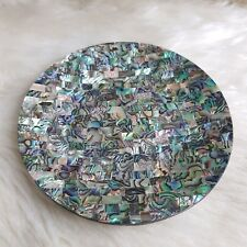 """5.5"""" Luxury Plate Caviar Serving Plate Abalone decorative dish Made in Thailand"""