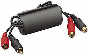 GOLD PLATED RCA PHONO 20AMP GROUND LOOP ISOLATOR NOISE FILTER PREVENT HUM KILLER