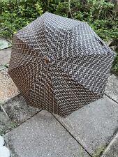FENDI Wooden Handle Rain Umbrella Black & White w/ FENDI Logo FREE SHIPPING!