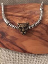Perle charms breloque pendentif tête tigre bronze compatible bracelet européen