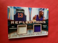 SHAQ SHAQUILLE O'NEAL Wilt Chamberlain GAME USED JERSEY CARD #d10/20 LEAF LAKERS