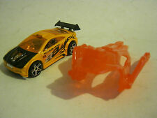 Hot Wheels Yellow Asphalt Assault with Clip On Wings, dated 2003  (EB8-4)