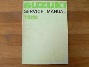 SUZUKI TS250 1976 SERVICE MANUAL MOTORCYCLE MOTORRAD BIKE TS 250