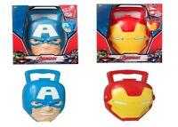 Marvel Avengers Novelty Shaped Case Iron Man Captain America Ages 3+ Toy Mask