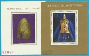 Rumänien aus 1973/1978 Block 107, 154 MiNr.3146, 3554 - Antike Schätze!