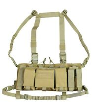 Trojan Tactical Chest Rig Utility Vest Pistol Mag GPS Pouch Army Coyote Tan