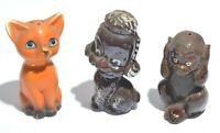 Vintage Salt Pepper Shakers RETRO Cat & Poodle / Dog & Monkey RARE Made In Japan