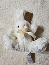 "Animal Adventure Daisy Bunny Plush Ivory 8"""