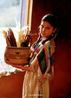 "Karen Noles "" Autumn Reflections "" #202/650 MINT RARE Indian Maiden"