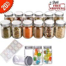 Mason Spice Jars Glass Empty 4 oz with Lids, 12 Pack Small Glass Jars Seasoning
