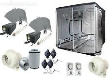 Complete Hydroponic Grow Room Tent Fan Filter 2 x 600 watt Light Kit 200x200x200