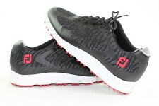Footjoy Mens Size 11.5 Black with Red Superlites XP Golf Shoes