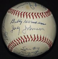 Pee Wee Reese Judy Johnson Earl Averill Signed Autographed Baseball JSA AH LOA!