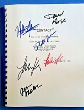 CONTACT MOVIE SCRIPT 8th September 1995 SIGNED Foster, McConaughey + 4