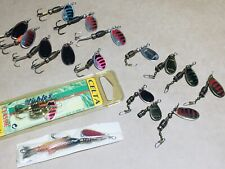18 Rublex Celta 1-3 Vintage Spinner Fishing Lures, Made In France Collectors!!!