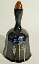 Vintage Blue Porcelain Ontagiri Bell with Irises