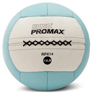 Champion Sports Soft Shell Rhino Promax Slam Light Blue Medicine Ball, 14 Pounds