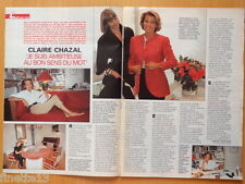CLAIRE CHAZAL Coupure de presse 2 pages TELE 7 JOURS 1991 – French clippings