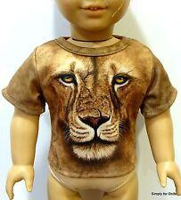 "Boy's ""Safari Lion"" Graphic DOLL T-SHIRT fits 18"" AMERICAN GIRL Doll Clothes"