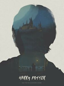 Harry Potter Alternative Movie Poster by Simon Fairhurst #/50 NT Mondo Moss