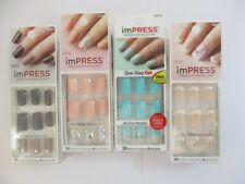 4 PACK KISS IMPRESS NAILS PRESS ON MANICURE - ASSORTED - NEW/SEALED - EL 1306