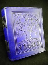 TREE of LIFE Handmade Leather Journal Diary - Grimoire - Pagan Book of Shadows