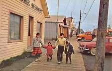 Nome Alaska Main Street Scene Eskimo Children Antique Postcard K54331
