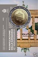 Pièce commémorative 2 euros SAINT MARIN 2015 - Réunification Allemande - BU