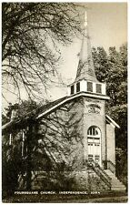 B5976 Foursquare Church, Independence IA Old Black & White Postcard Publ. Artvue