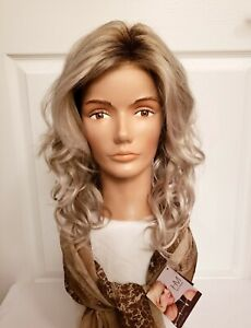 Harper by Henry Margu Synthetic Wig 10/613GR Ash Blonde Rooted Lace Front
